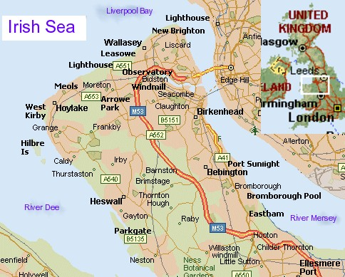 Do you live on the Wirral and eager to buy a headstone ... Map Of England Showing The Dee River Mersey on